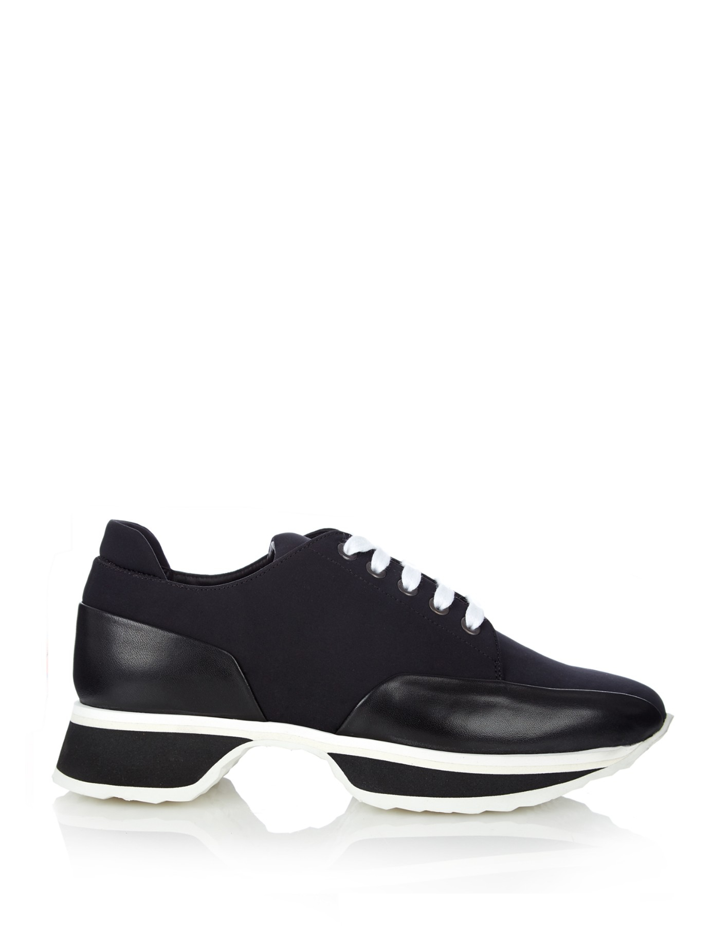 Lyst - Pierre Hardy Platform Sneakers With Leather - Black . 09a08660c