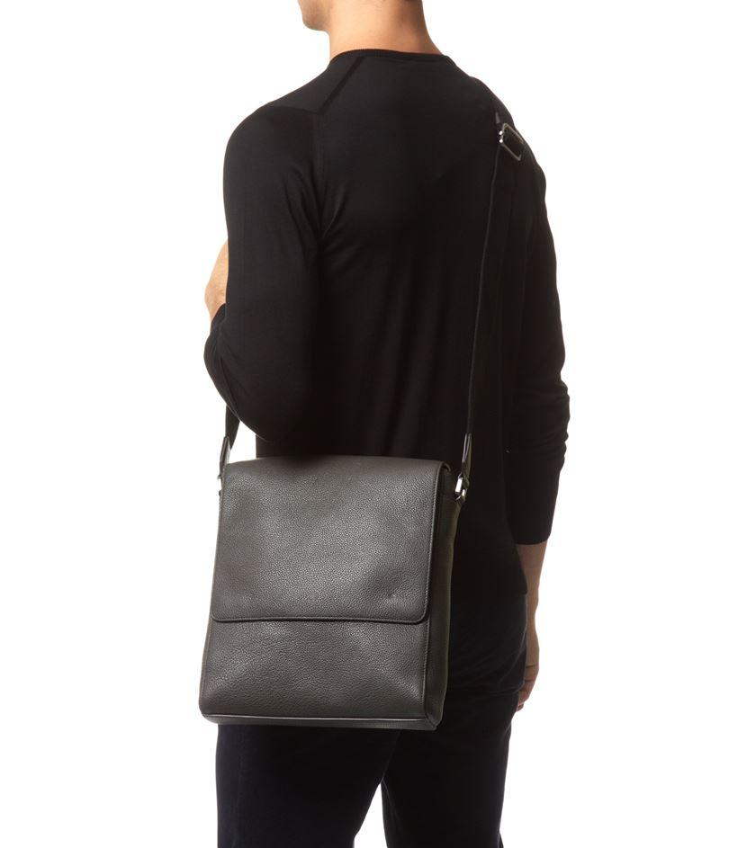 de03271e7c6c7 ... order mulberry maxwell slim messenger grain leather bag in black for  men a122a 65509