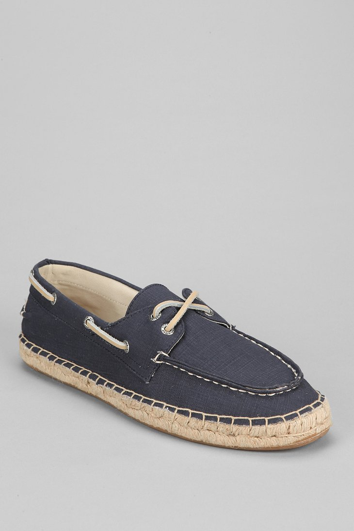 Sperry Top-sider Topsider 2eye Espadrille Canvas Boat Shoe In Blue For Men (NAVY) | Lyst