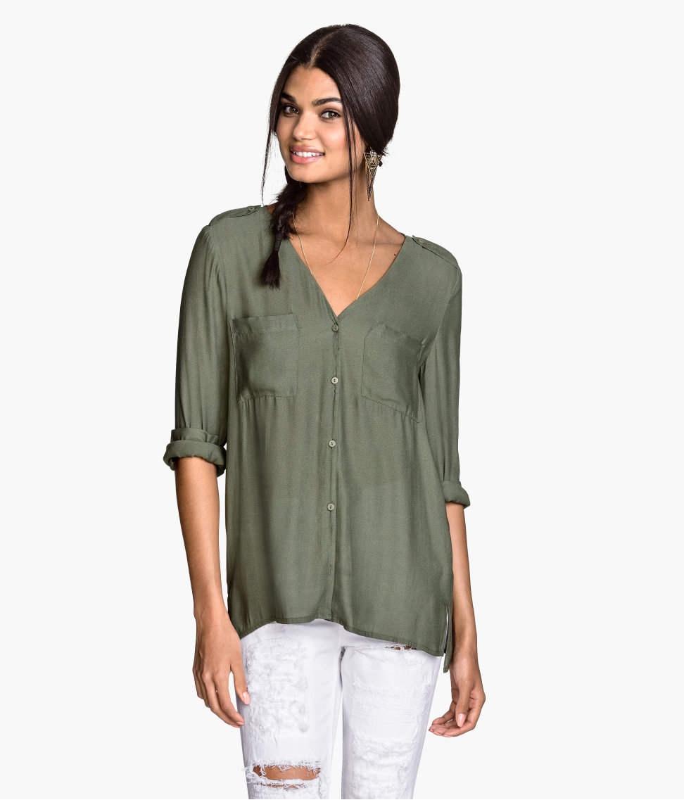 V Neck Blouse H&M 85