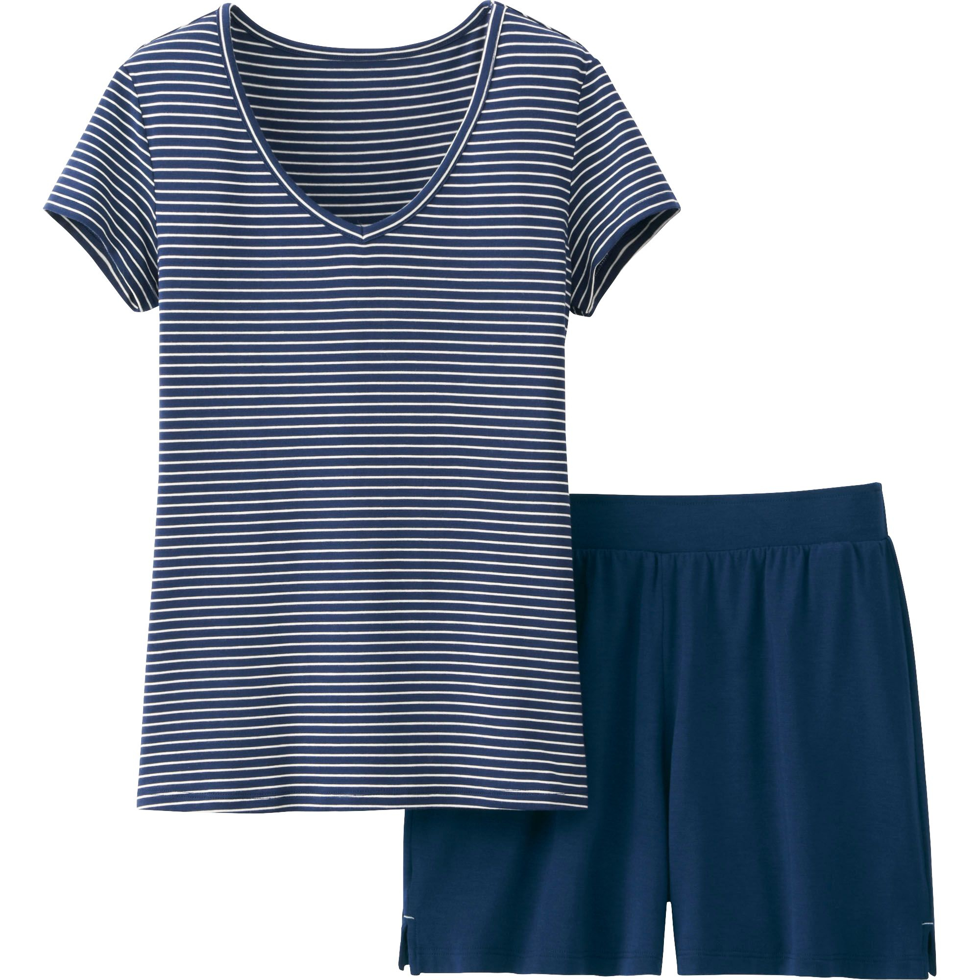 Uniqlo Women Airism Lounge Set Short Sleeve In Blue Lyst