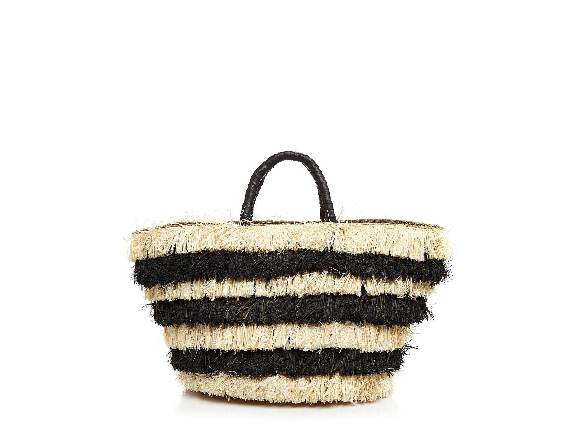 kayu pinata fringed woven seagrass tote in lyst