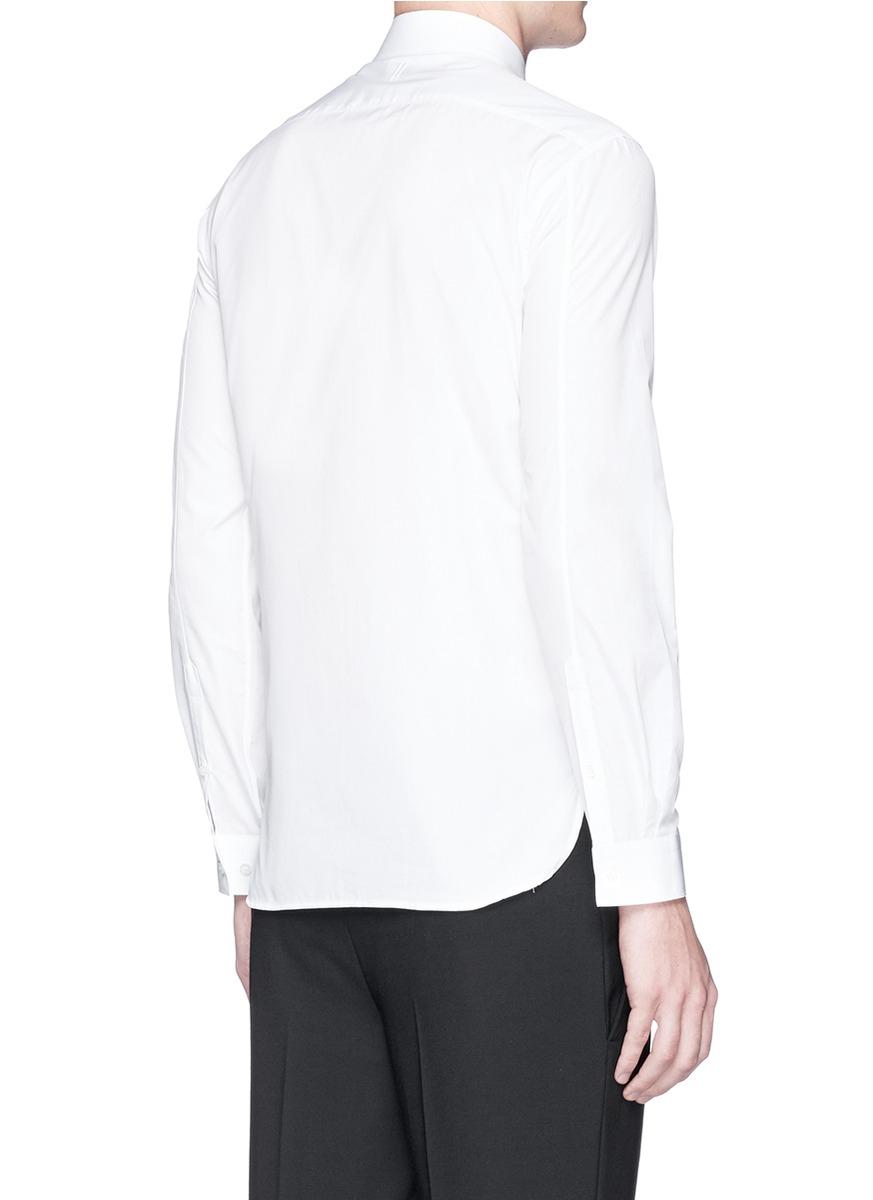 Lyst neil barrett scissors dot line collar shirt in for Neil barrett tuxedo shirt