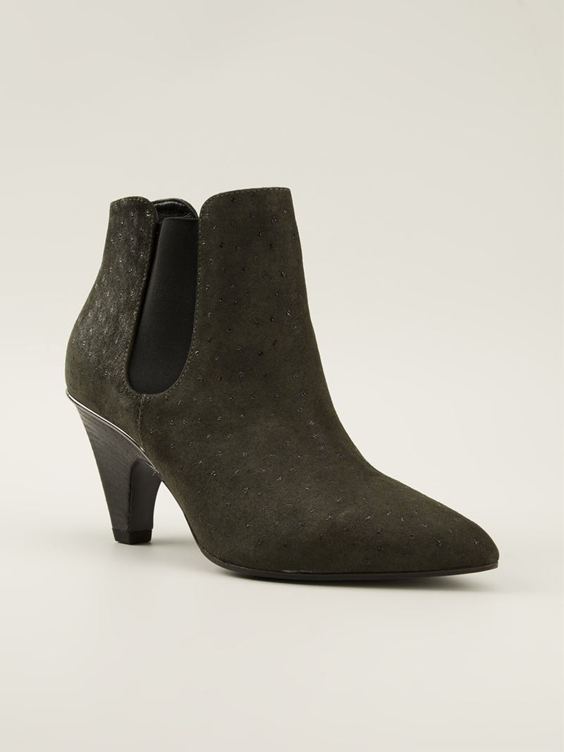 vic mati 233 alimede ankle boot in green lyst