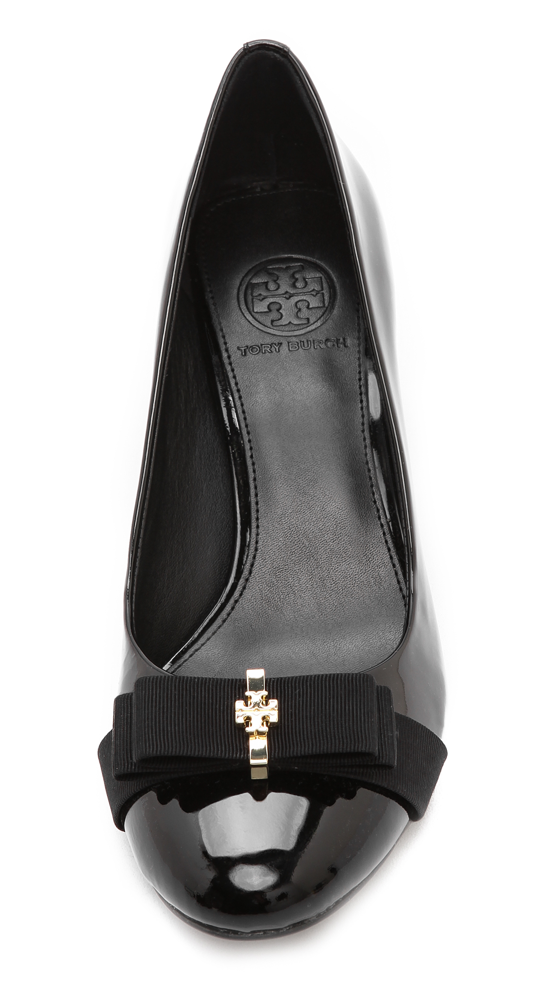 783454bf51a89 Tory Burch Trudy Cap Toe Pumps in Black - Lyst