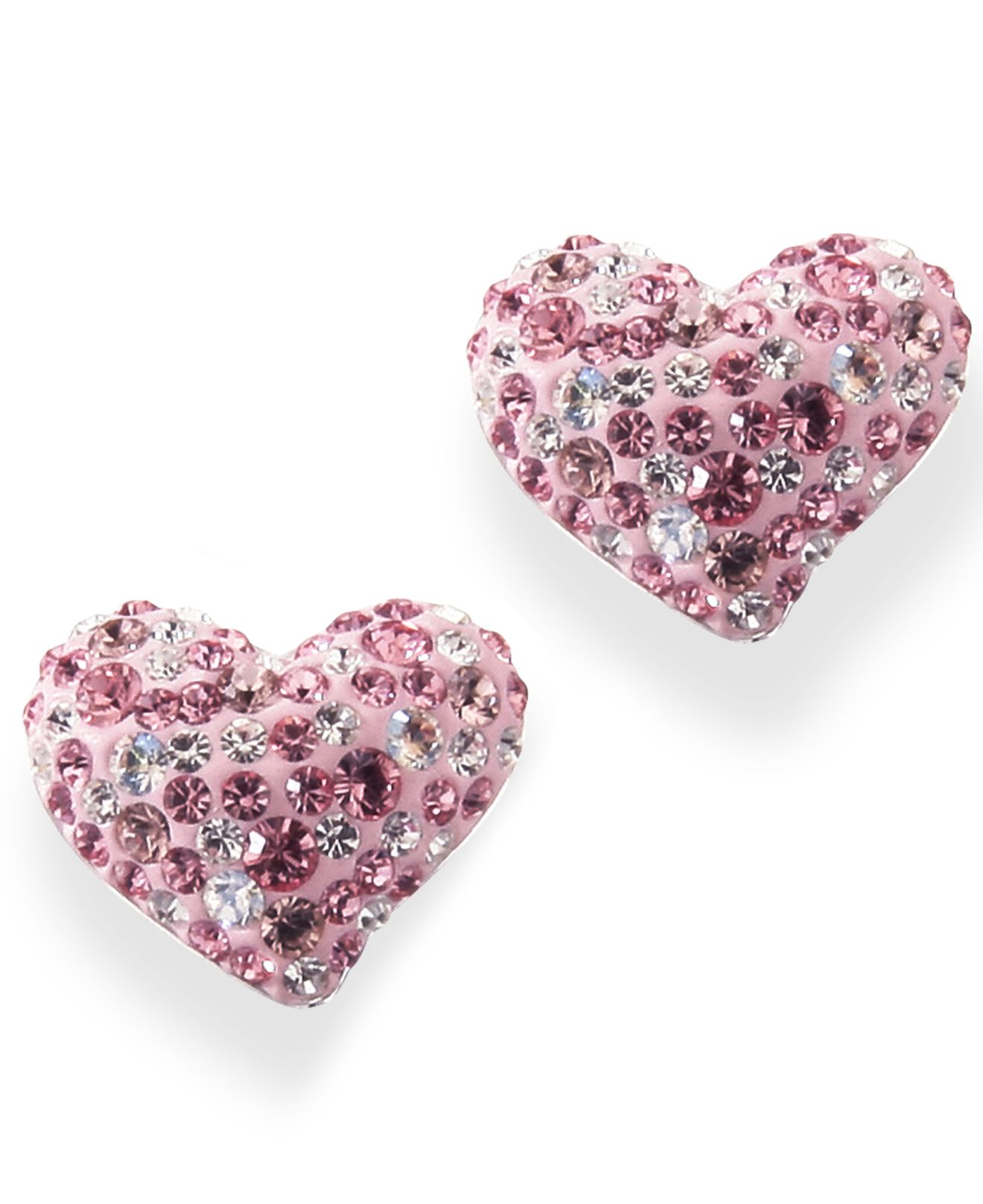 Pink And White Crystal Hearts