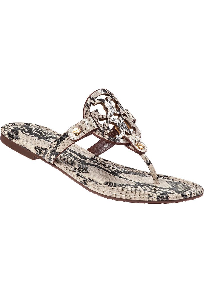 4fd6379ad00e6b Lyst - Tory Burch Miller Thong Sandal Natural Snake
