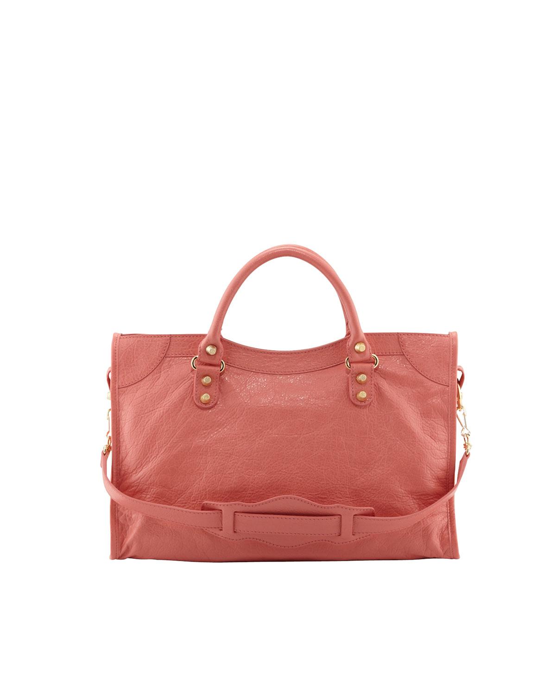 da56f082de15 Lyst - Balenciaga Giant 12 Golden City Bag Rose Azalea in Pink