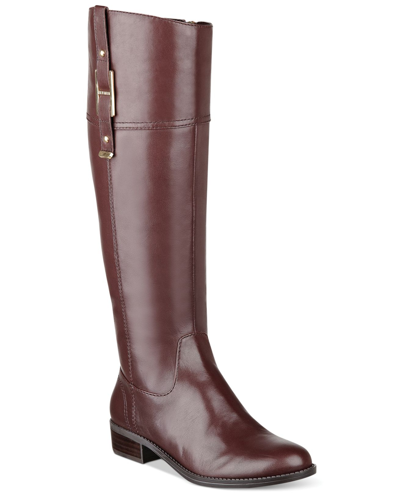 lyst tommy hilfiger womens gibsy wide calf riding boots. Black Bedroom Furniture Sets. Home Design Ideas