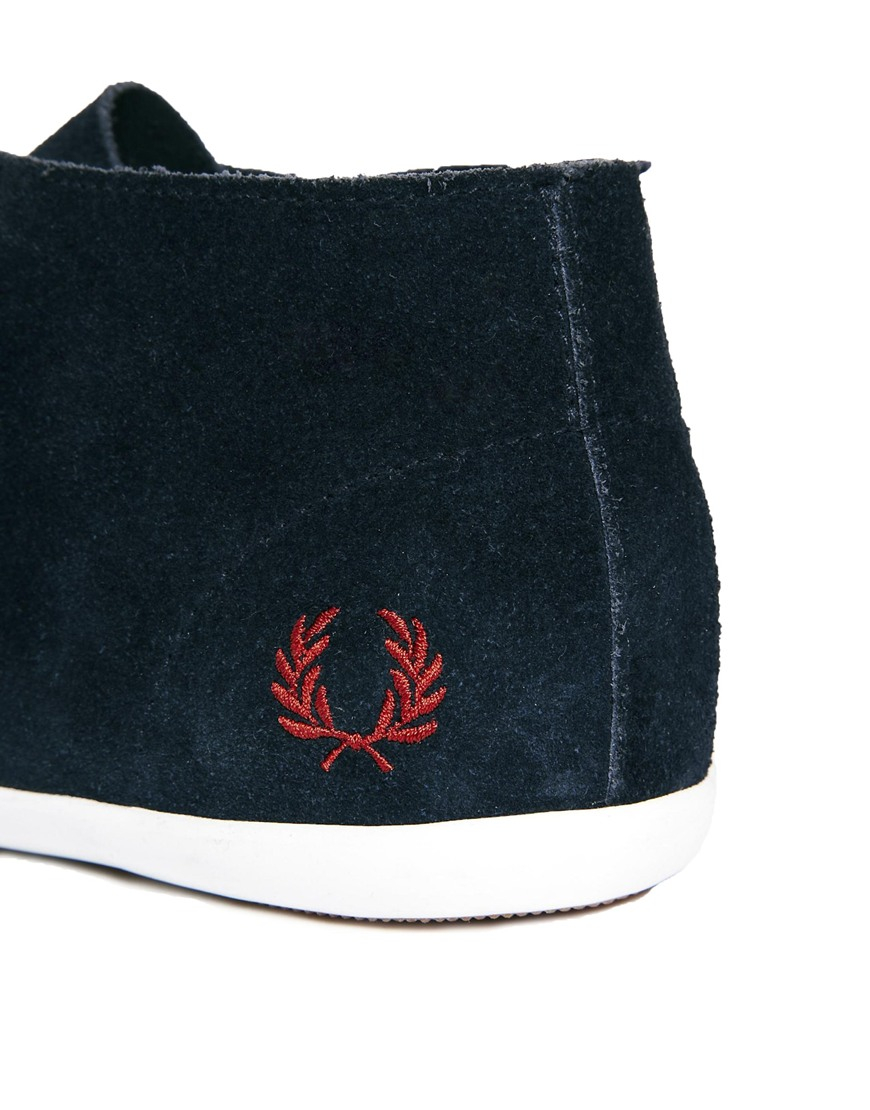 Fred Perry Roots Suede Ankle Boots In Navy Blue Lyst