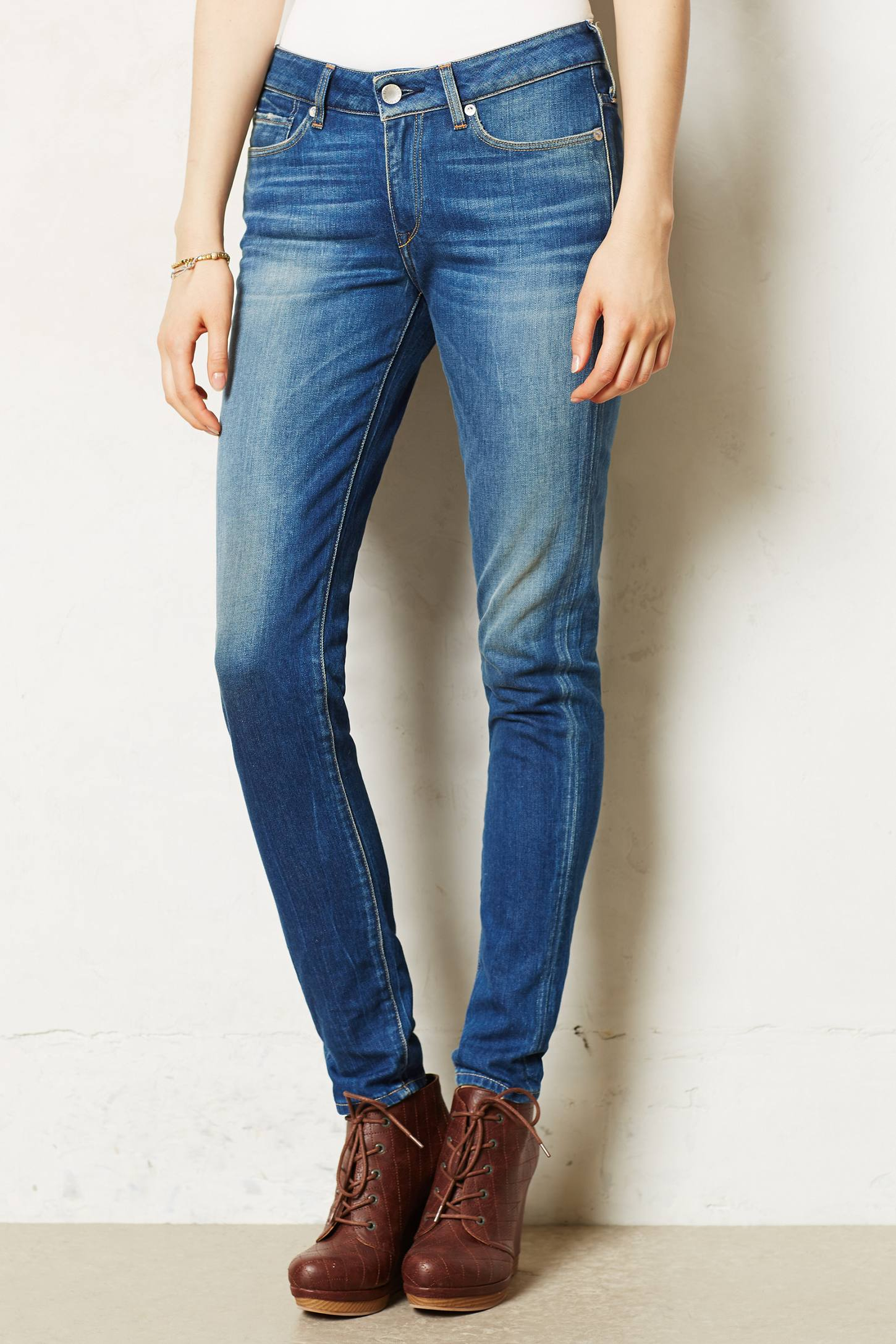 Levi 39 s made crafted empire skinny jeans in blue motion for Levi s made and crafted