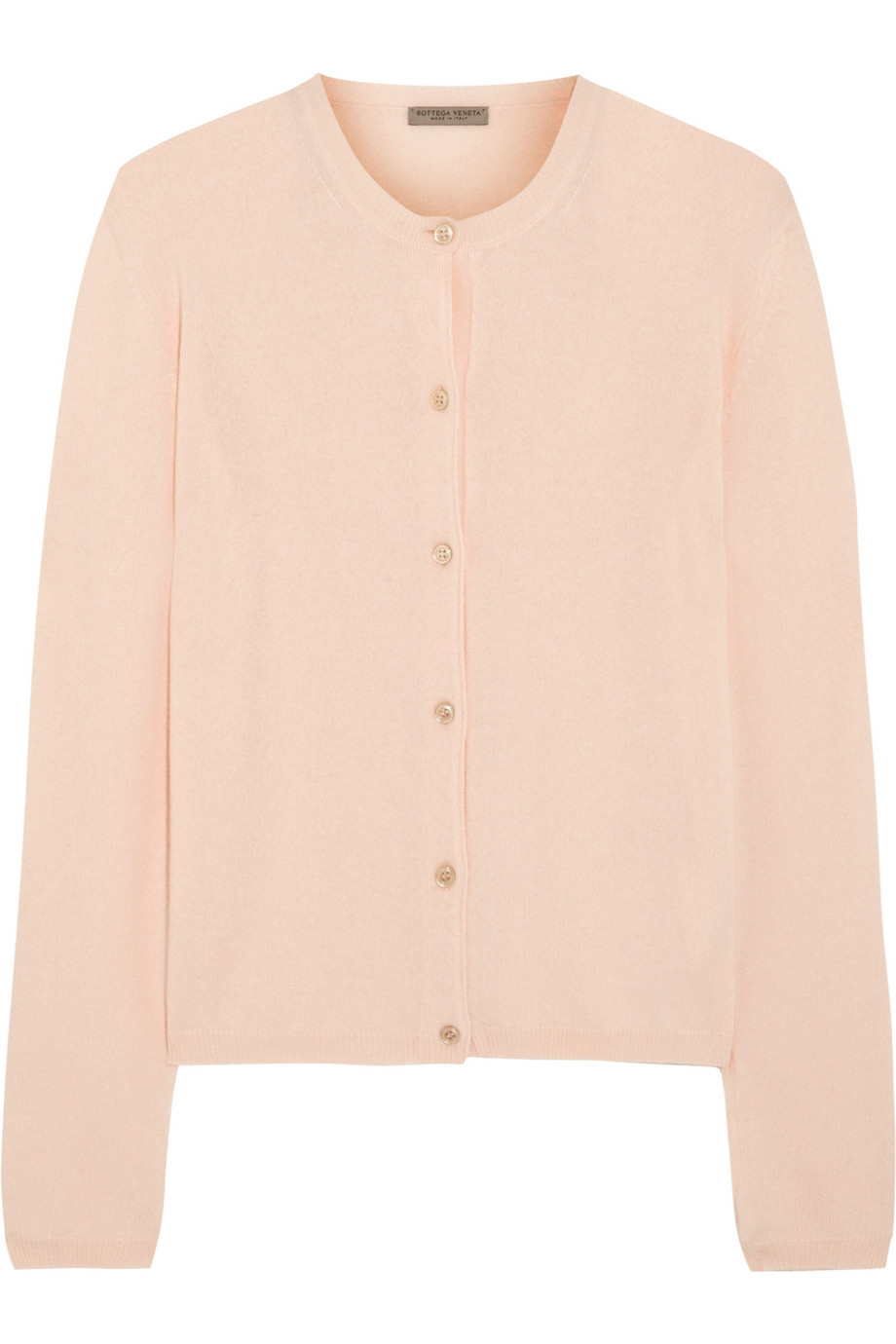 Bottega veneta Fine-Knit Cashmere Cardigan in Pink | Lyst