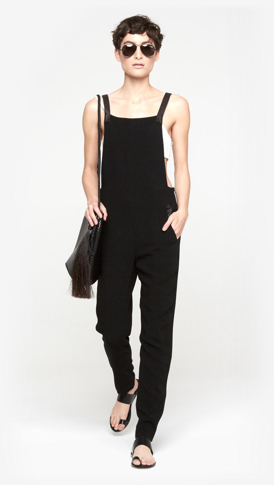 54fb72db78d4 Lyst - Rag   Bone Box Jumpsuit in Black
