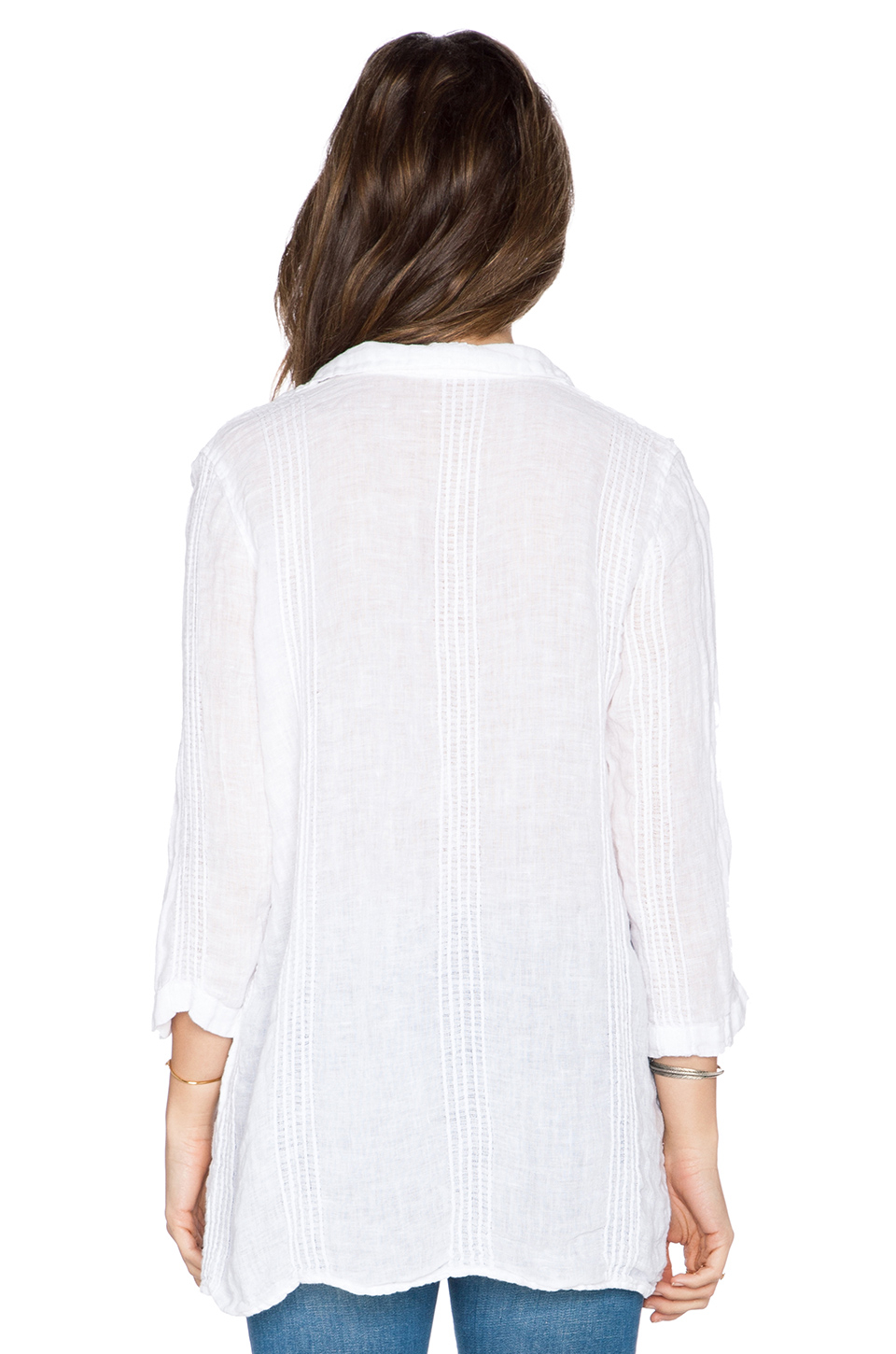 Cp Shades Kendall Linen Dress In White Lyst