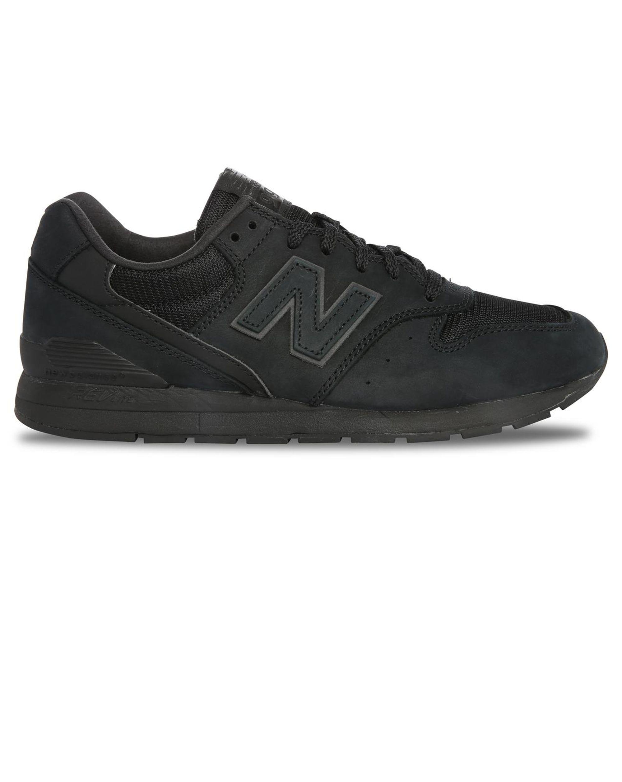new balance black 996 suede mesh sneakers in black for men lyst. Black Bedroom Furniture Sets. Home Design Ideas