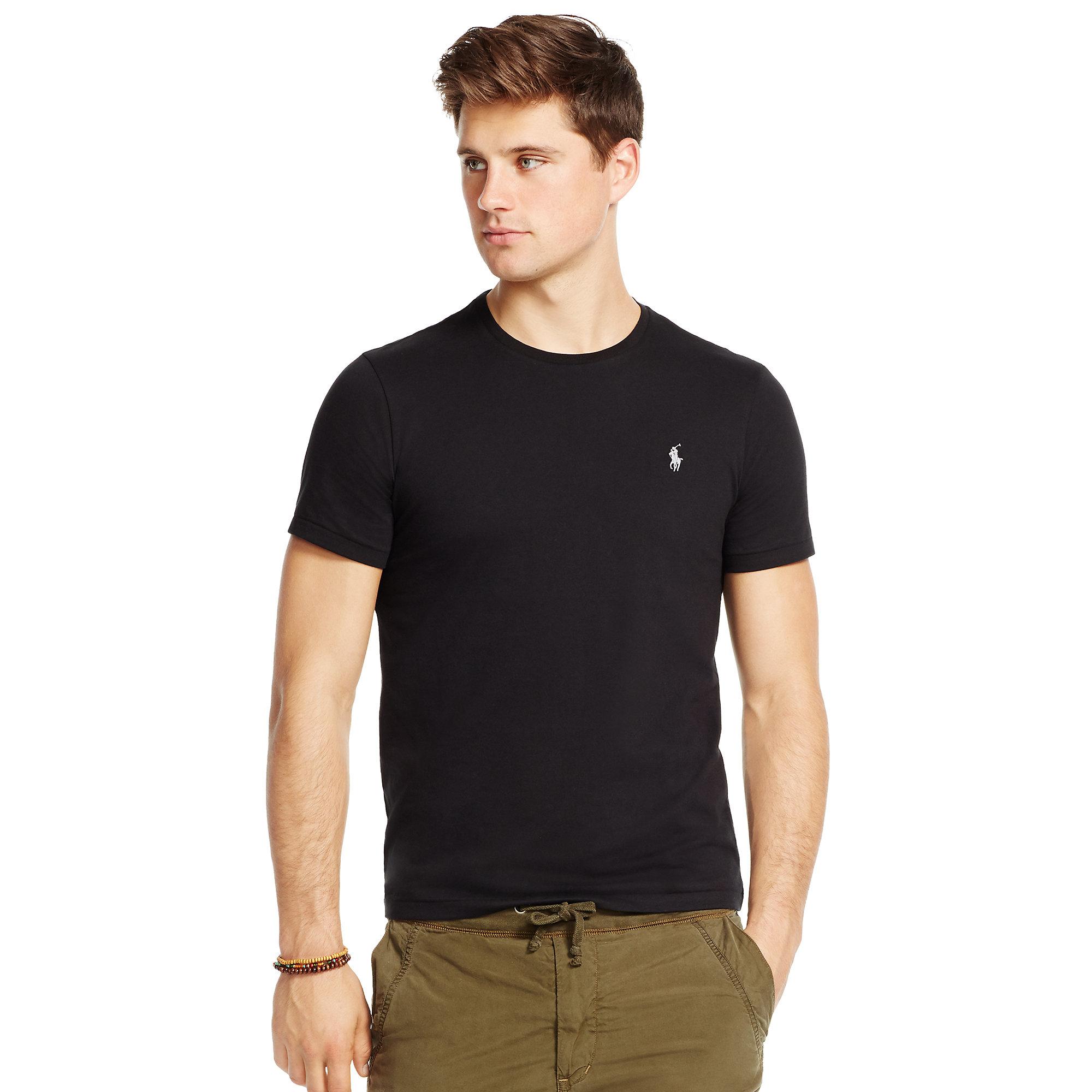 01b4c4f8226933 Lyst - Polo Ralph Lauren Custom-fit Cotton T-shirt in Black for Men