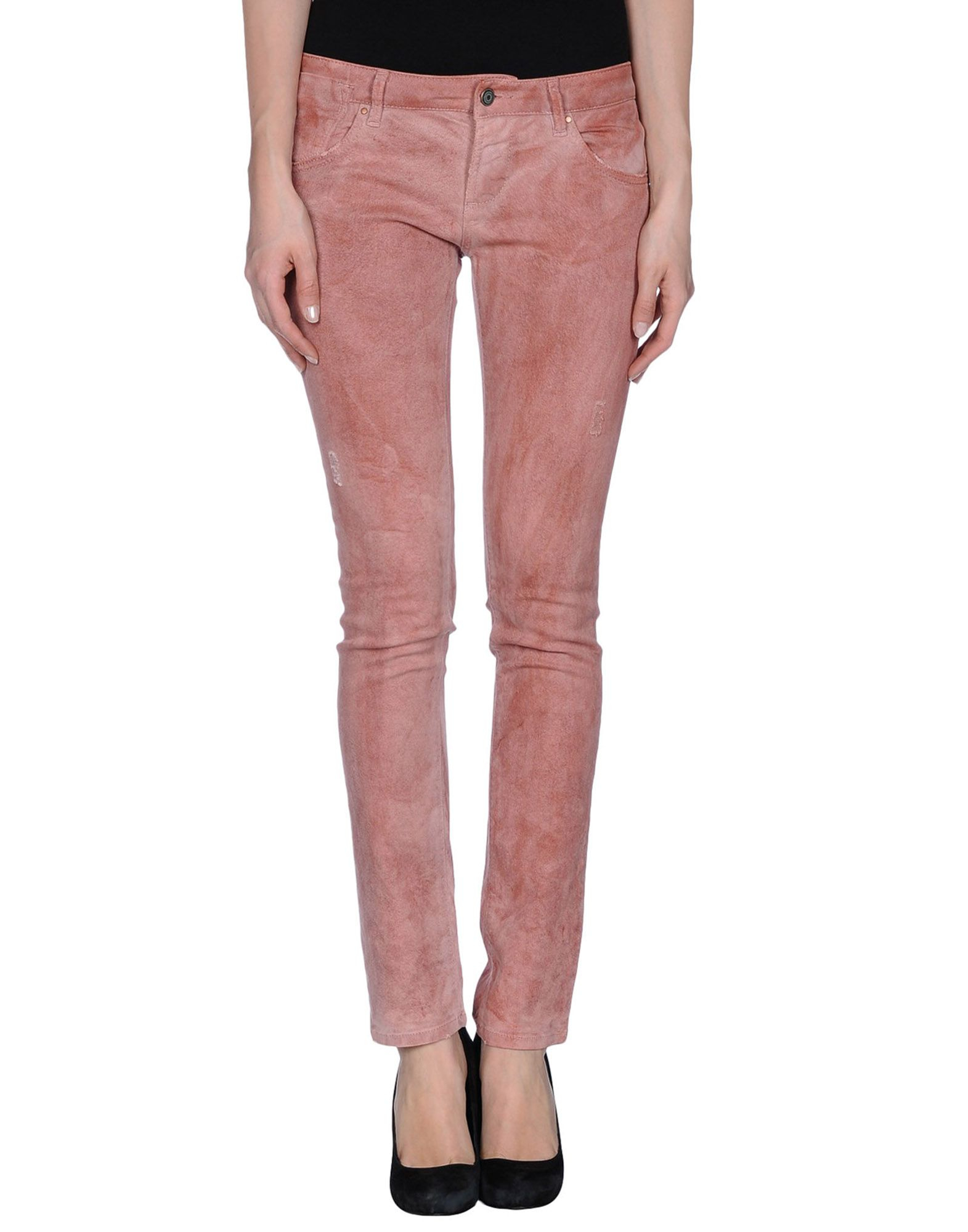 Daniele alessandrini Denim Trousers in Pink (Skin color) - Save 83% | Lyst
