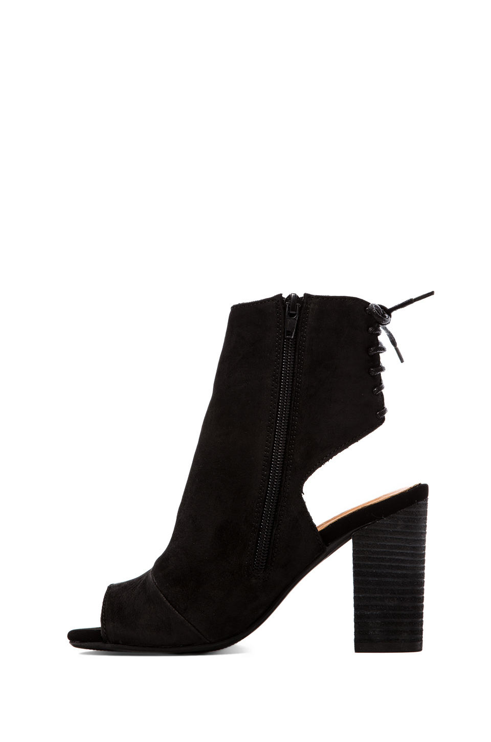 Lyst - Jeffrey Campbell Quincy Open Toe Heeled Booty In Black In Brown-2878
