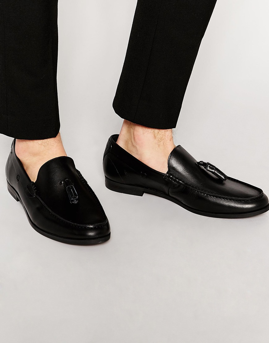 Frank Wright Woven Loafers In Leather WNlhLX