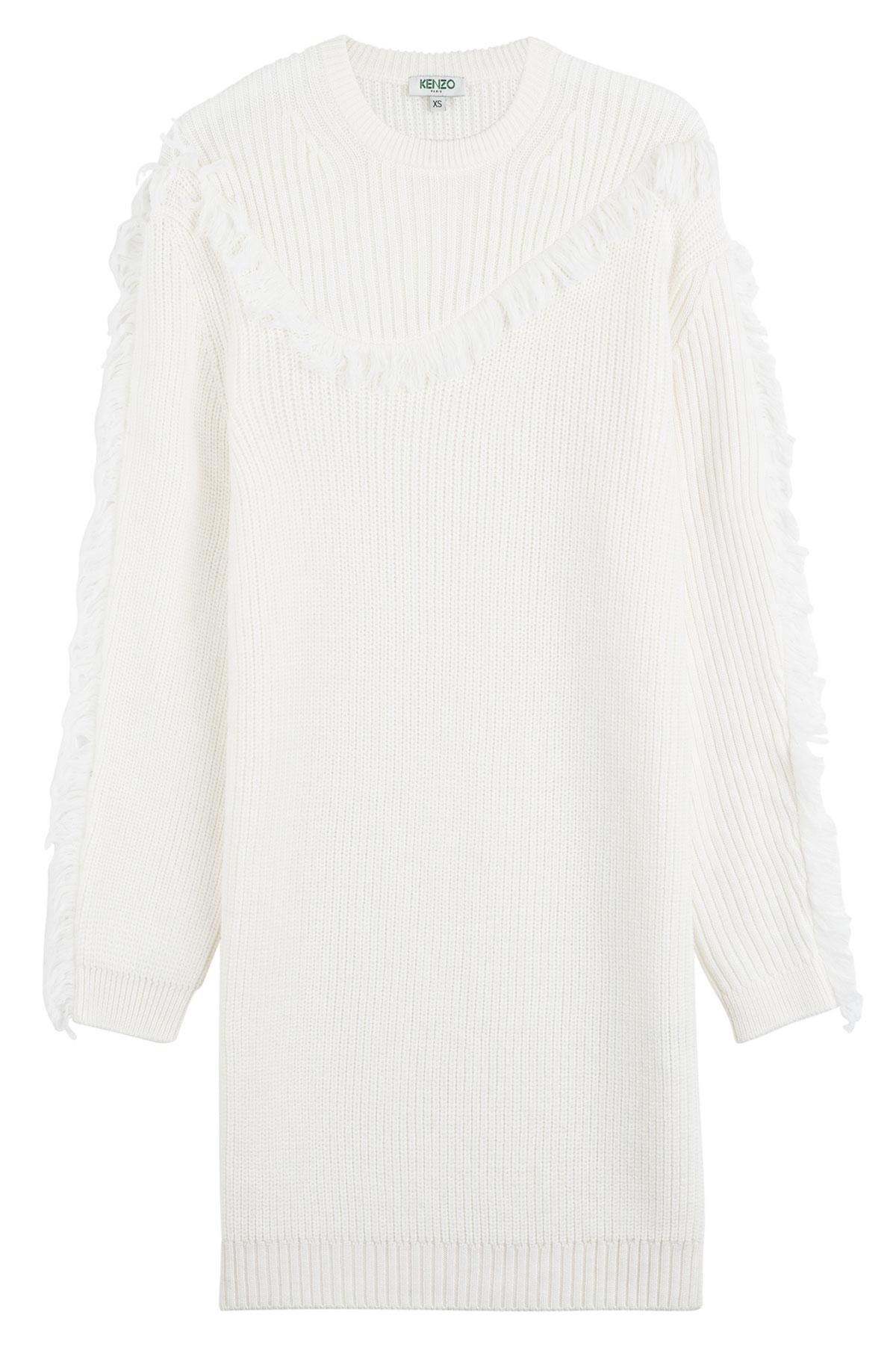 Wool Kenzo Dress White Sweater In Lyst xeEQdCoWrB