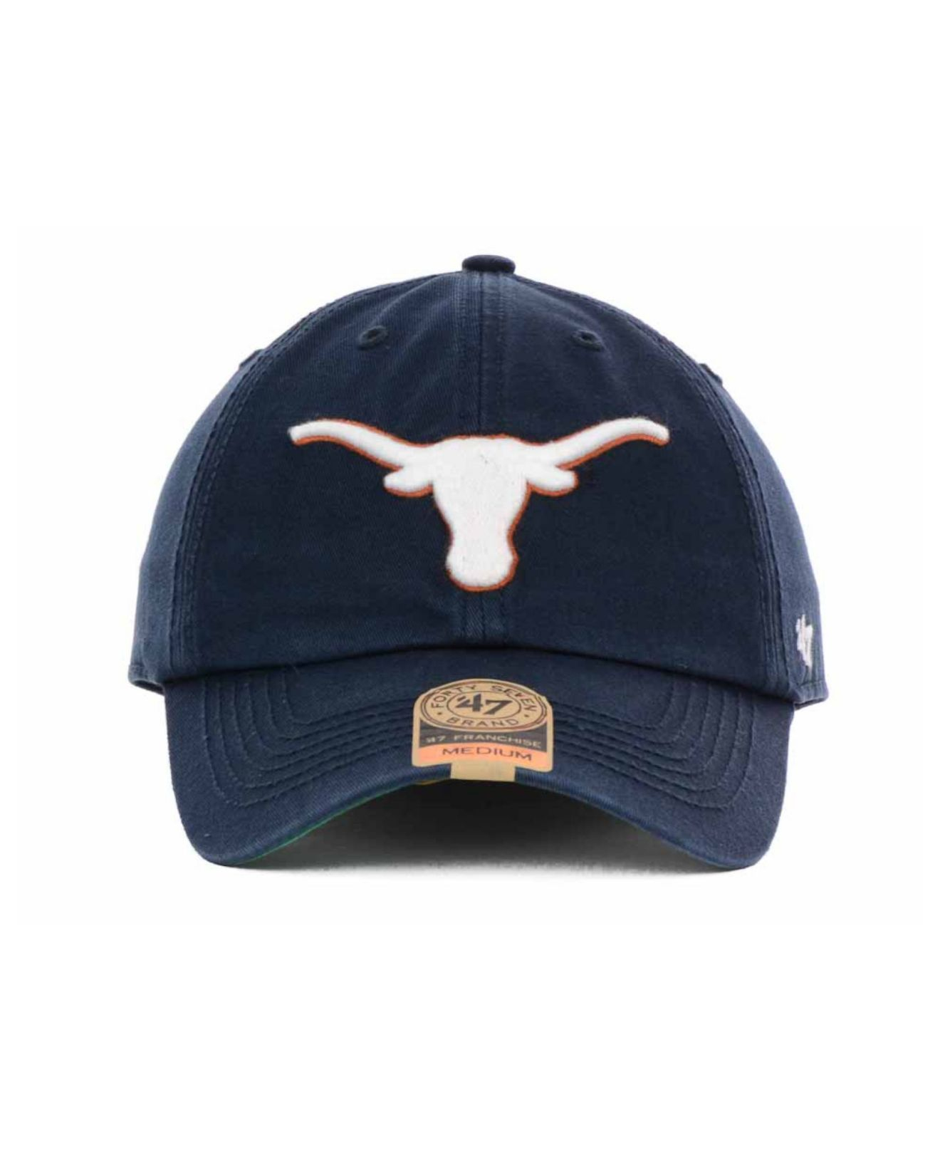 99a6a2f321034 47 Brand Texas Longhorns Navy Franchise Cap in Blue for Men - Lyst