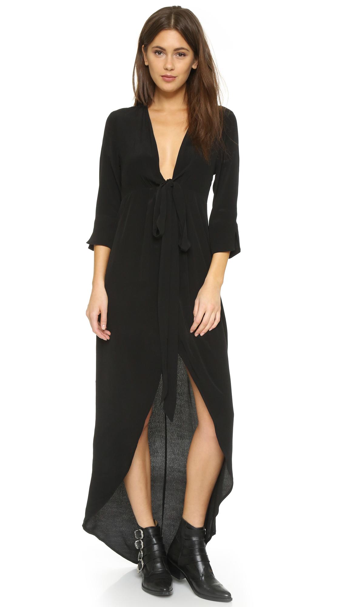 knot sisters morrison dress in black lyst. Black Bedroom Furniture Sets. Home Design Ideas
