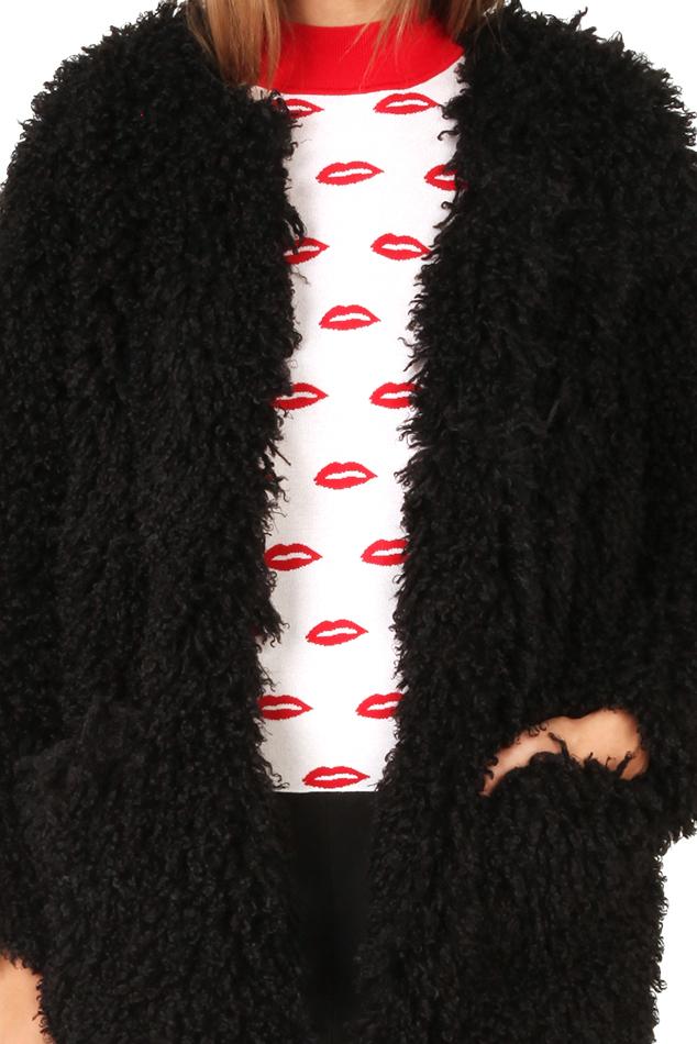 Smythe Mongolian Chubby Faux In Black Lyst