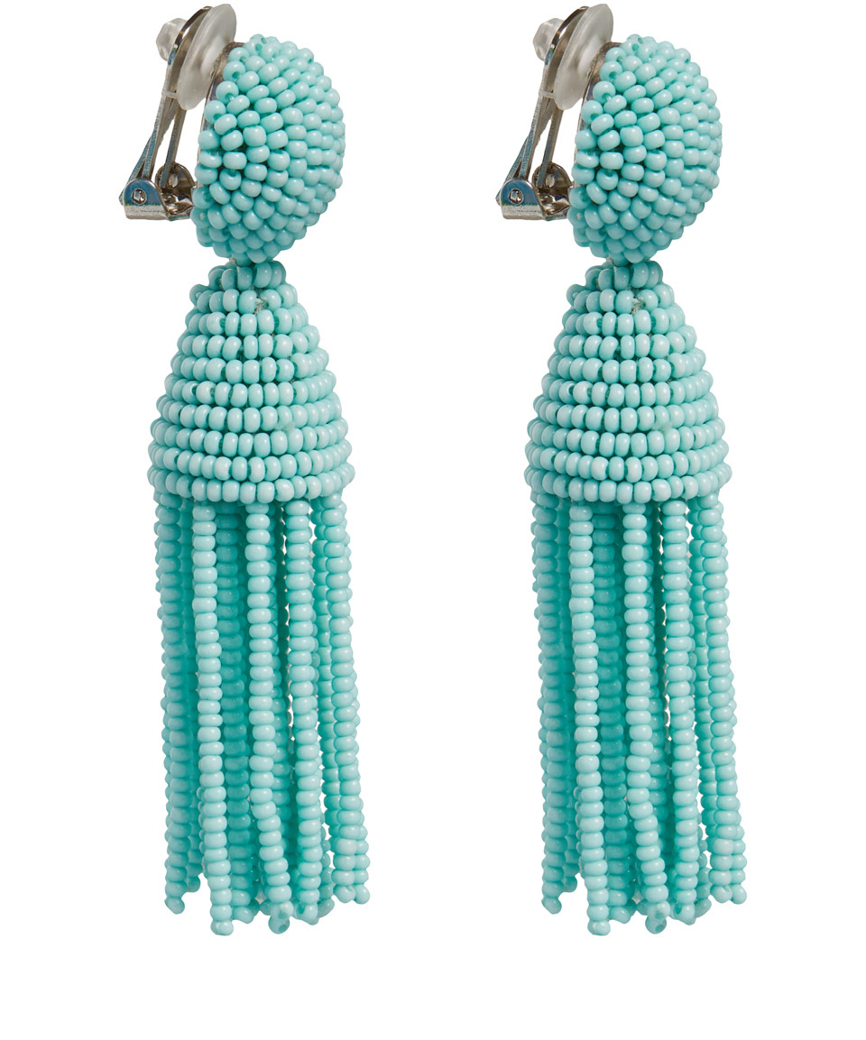 Oscar De La Renta Embellished Clip On Earrings Women,oscar de la renta  spring couture,Biggest Discount