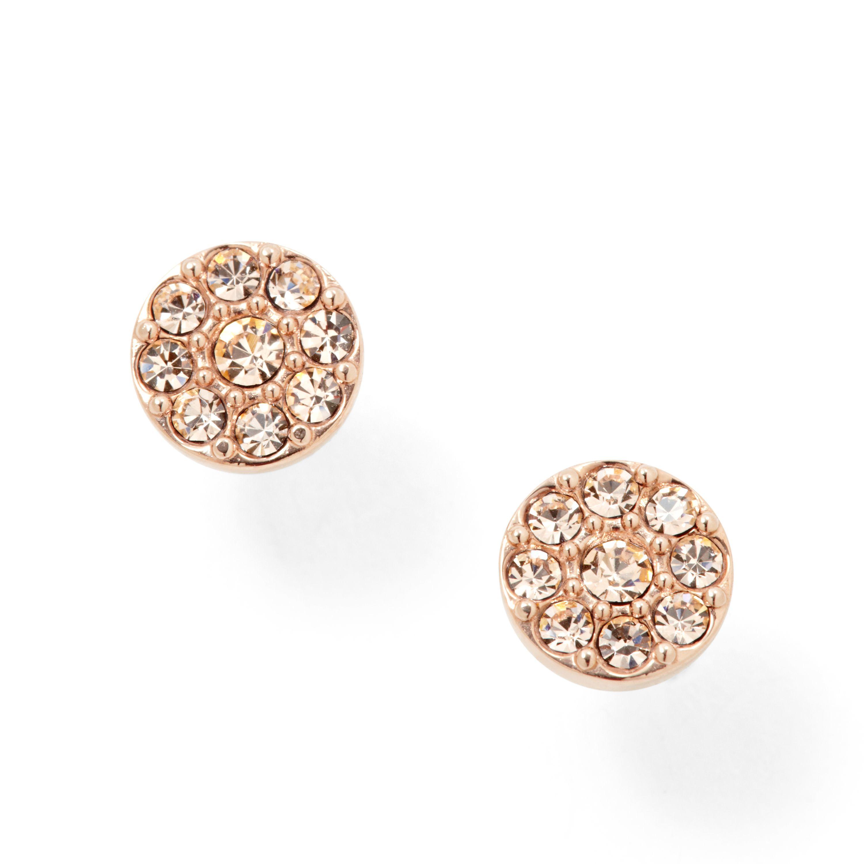 fossil jf00830791 ladies rose gold vintage glitz earring. Black Bedroom Furniture Sets. Home Design Ideas