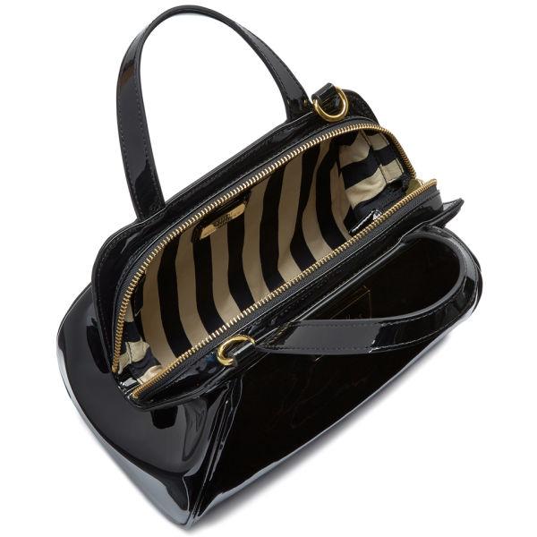 857b6909b9 Lulu Guinness Womens Small Paula Patent Leather Grab Bag in Black - Lyst