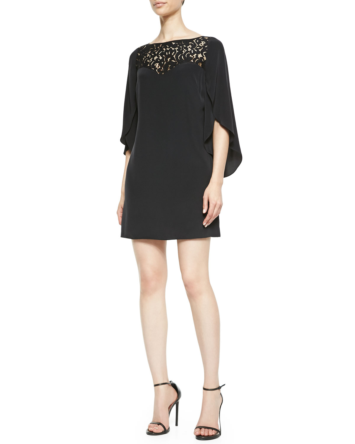 The black butterflies sparkle and the tulle give this dress a magical, otherworldly quality. Looks and feels very well made. The dress is built to stay put with several safety features.9/