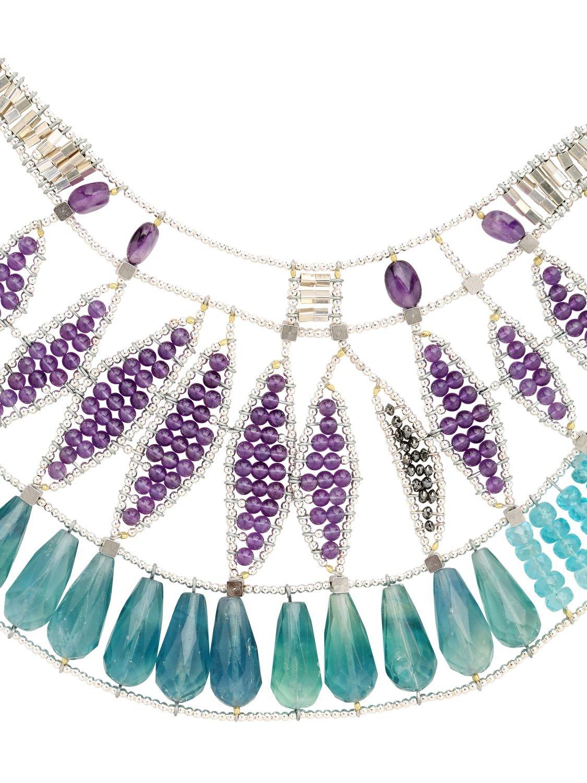 Ziio Jungle Necklace in Blue/Purple (Blue)