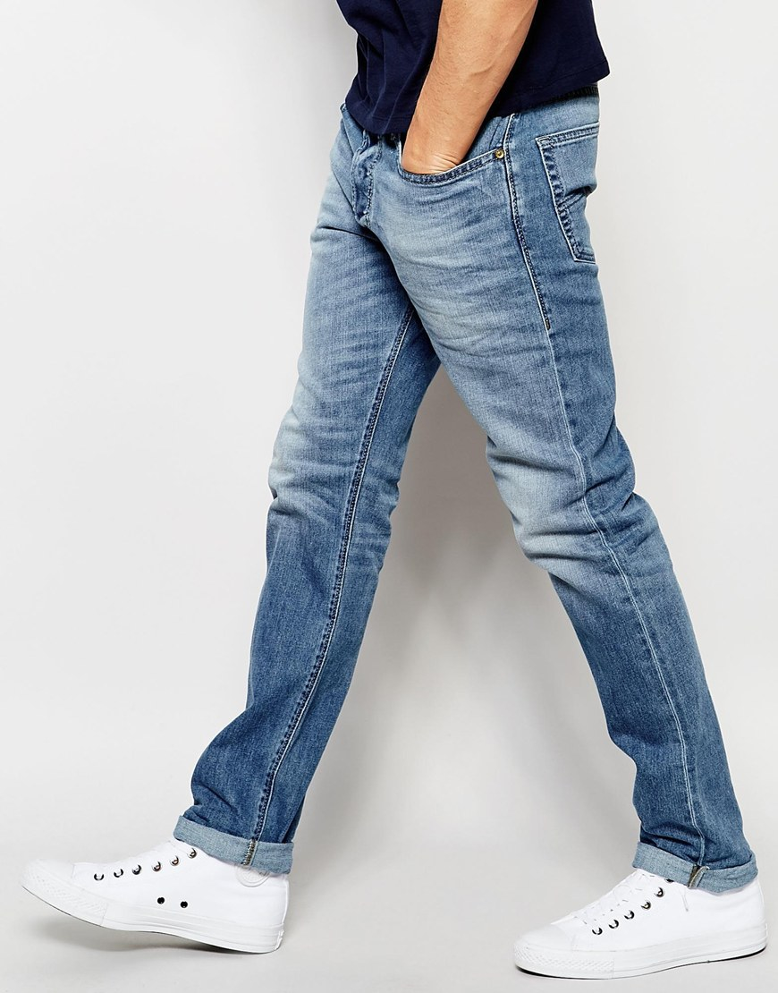 aaa8a926 DIESEL Jeans Buster 842h Regular Slim Fit Stretch Light Wash in Blue ...