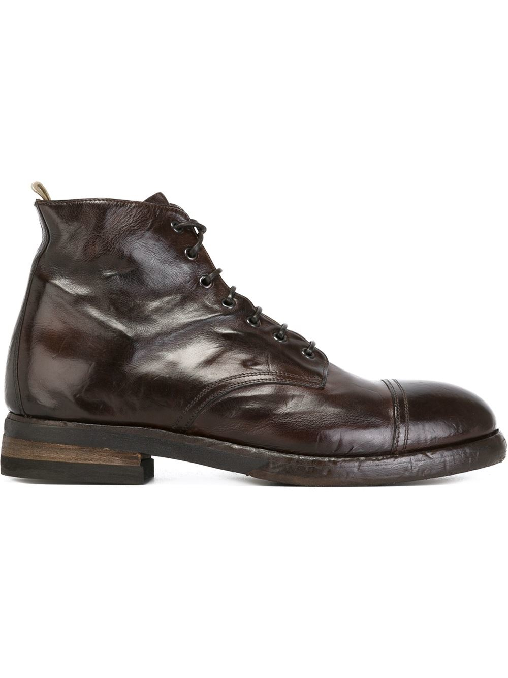 Lyst Officine Creative Lace Up Ankle Boots In Brown For Men