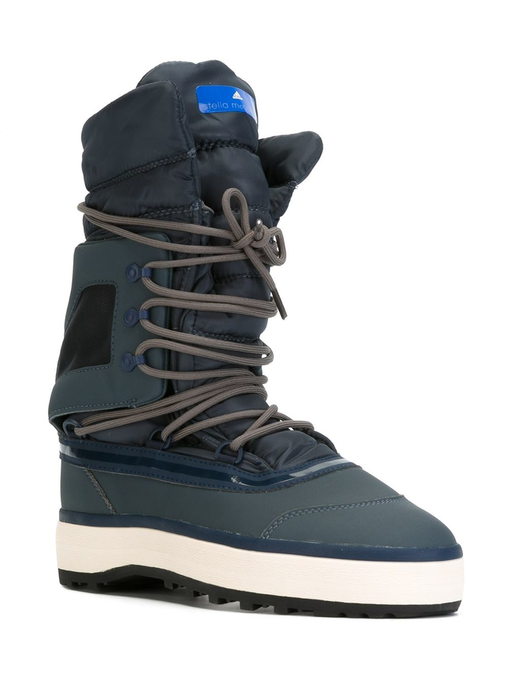 Lyst - Adidas by stella mccartney Lace-up After Ski Boots in Brown : adidas quilted boots - Adamdwight.com