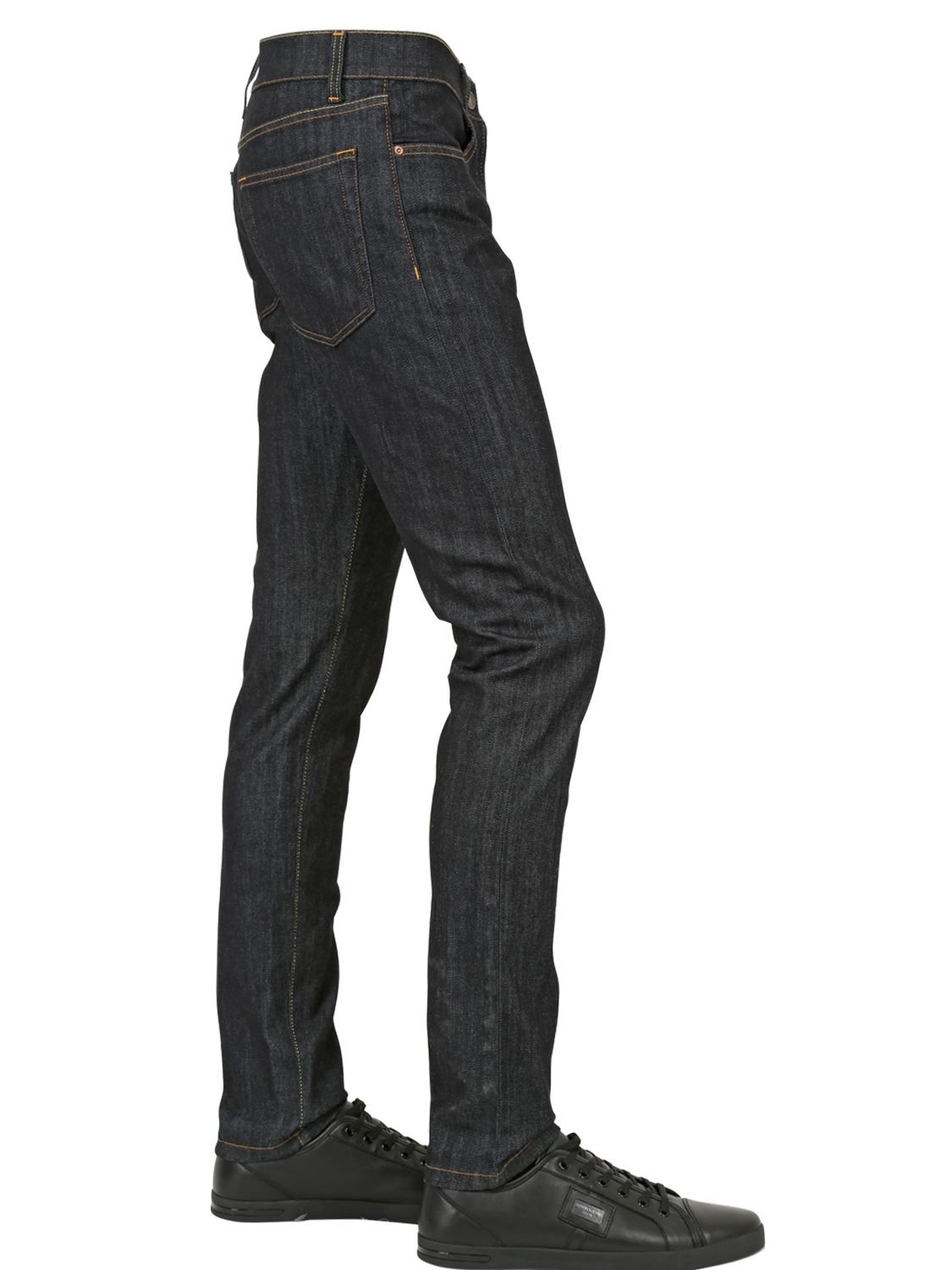 Dolce & Gabbana 17cm Stretch Denim Jeans in Black for Men