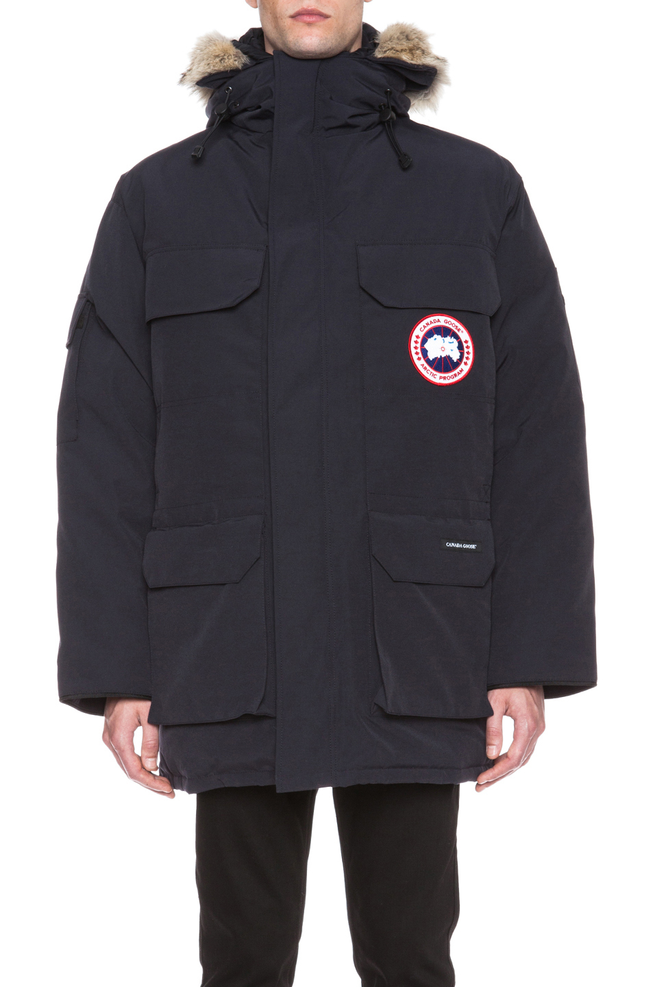 canada goose expedition polyblend parka in blue for men. Black Bedroom Furniture Sets. Home Design Ideas