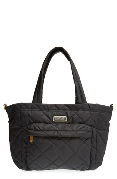 marc by marc jacobs eliz a baby quilted diaper bag in black lyst. Black Bedroom Furniture Sets. Home Design Ideas