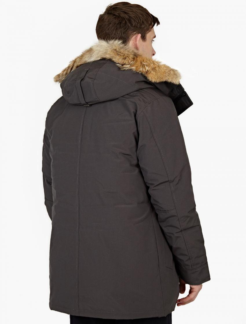 Canada Goose' Men's Fur-Trimmed Chateau Parka-DARK GREY Size L