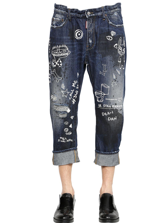 DSquared² 16.5Cm Big Dean Monster Denim Jeans in Blue for Men