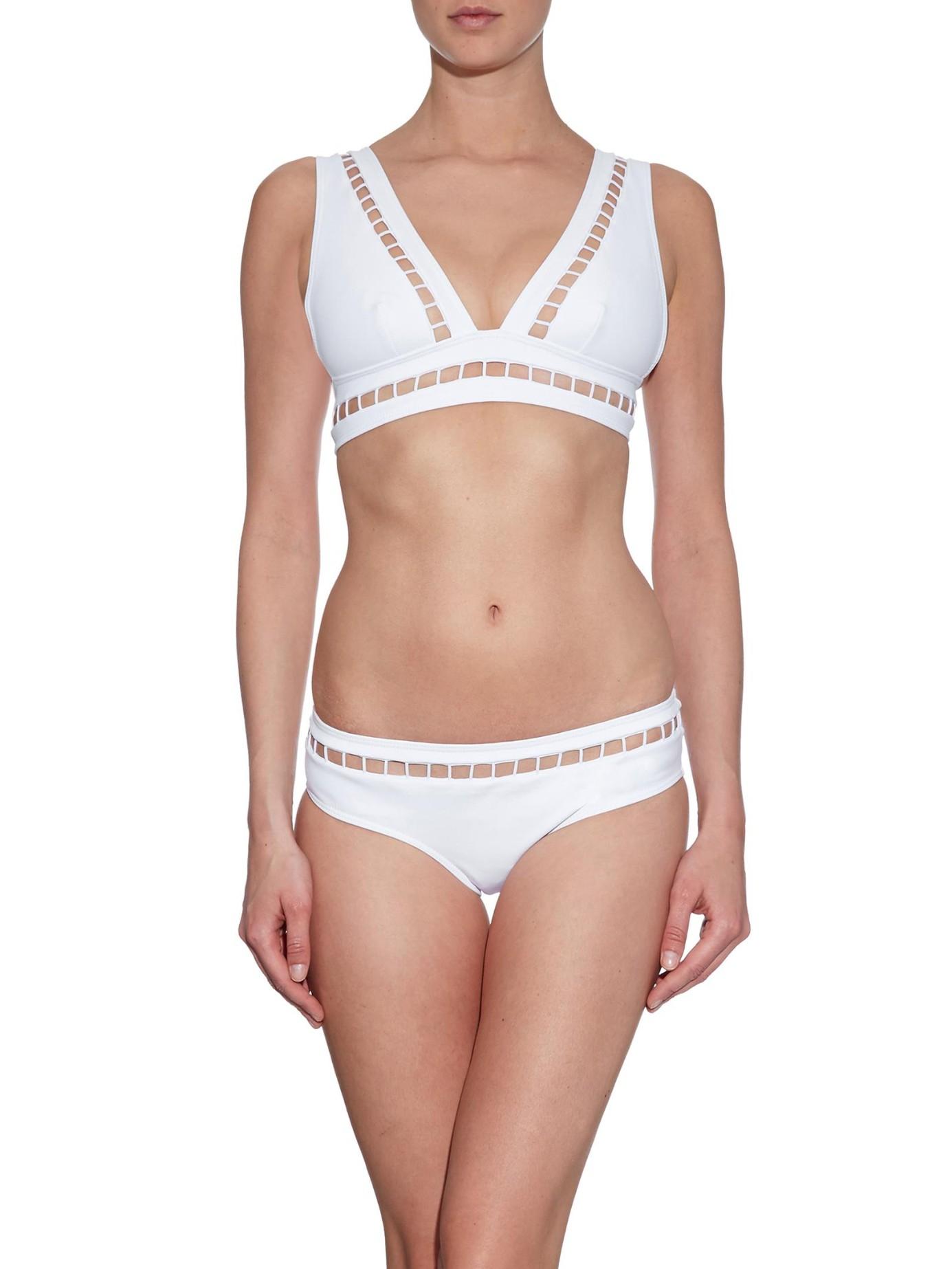 Zimmermann White Marisol Ladder Bikini