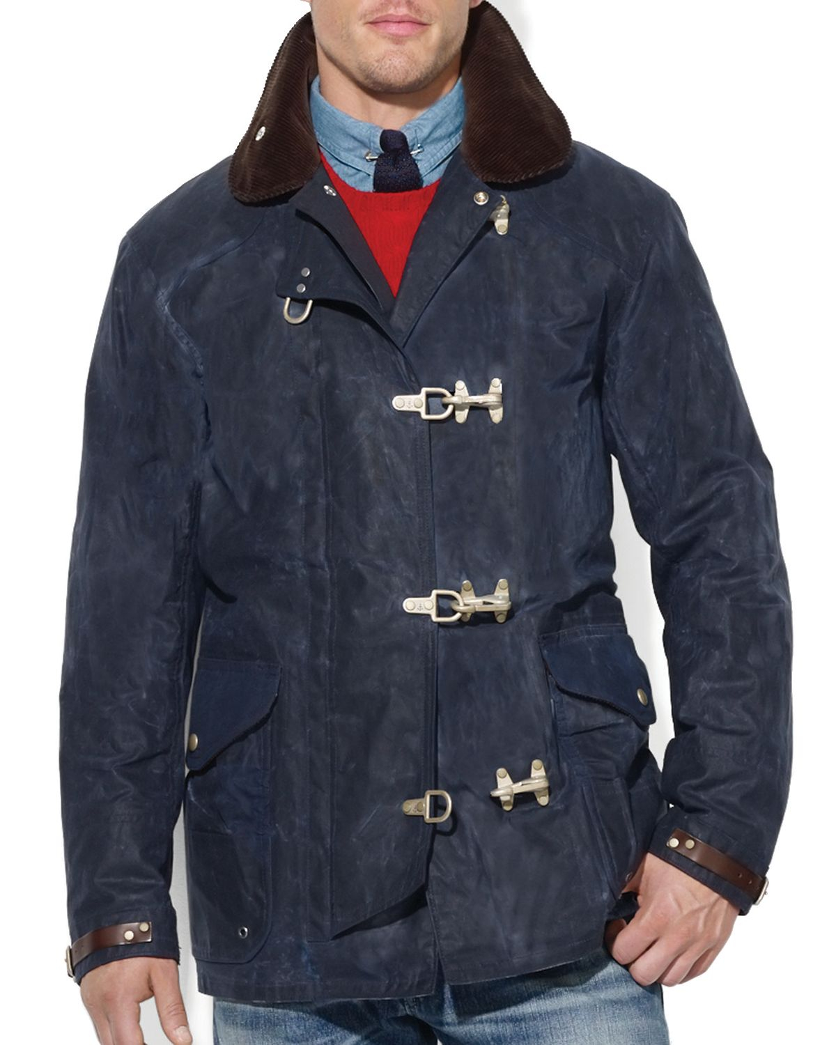 Ralph Lauren Polo Oilcloth Fireman S Jacket In Blue For
