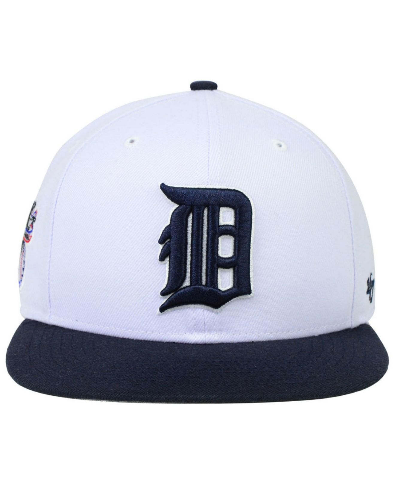 new arrivals 17658 78180 ... uk italy lyst 47 brand detroit tigers sure shot snapback cap in white  for men 1989b