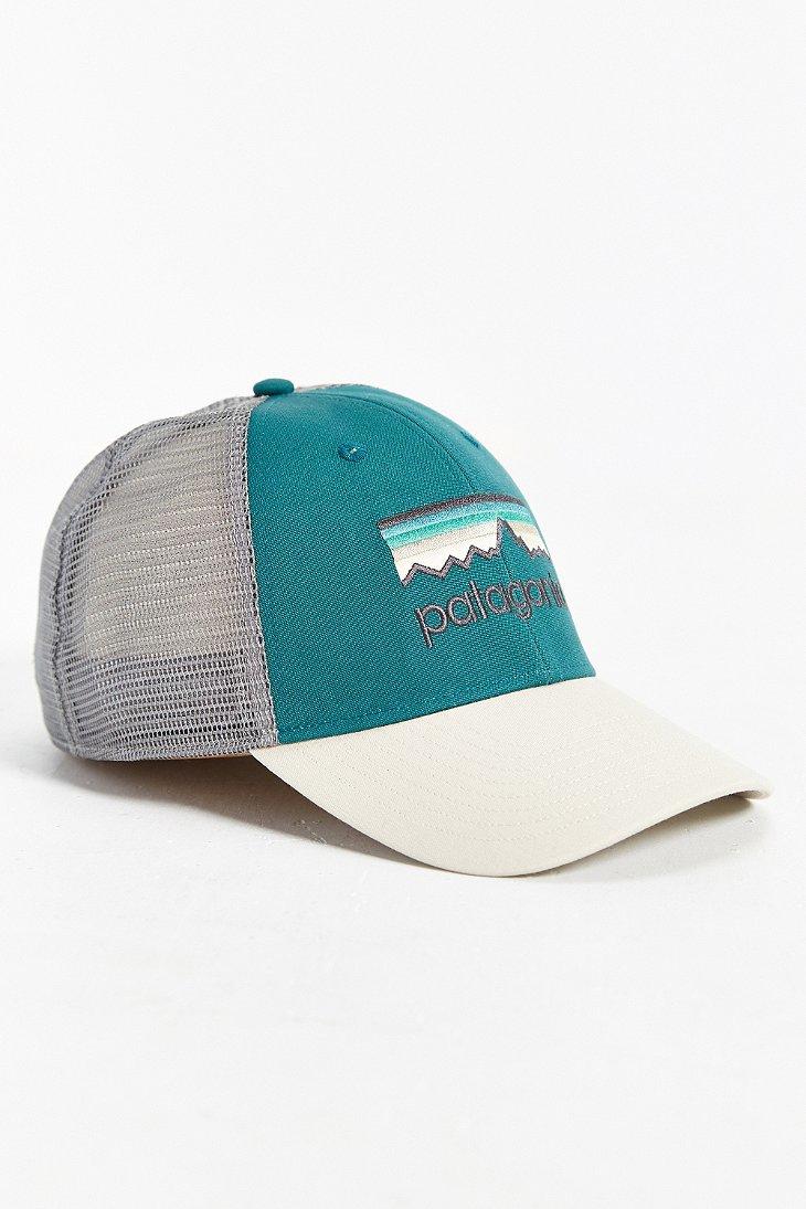 Lyst - Patagonia Line Logo Lo-pro Trucker Hat in White for Men ed9712216e9