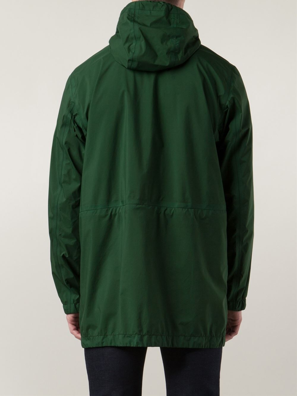 stone island hooded windbreaker in green for men lyst. Black Bedroom Furniture Sets. Home Design Ideas