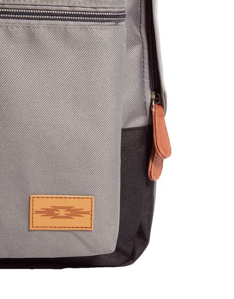 Asos Backpack With Contrast Colour Base In Gray For Men