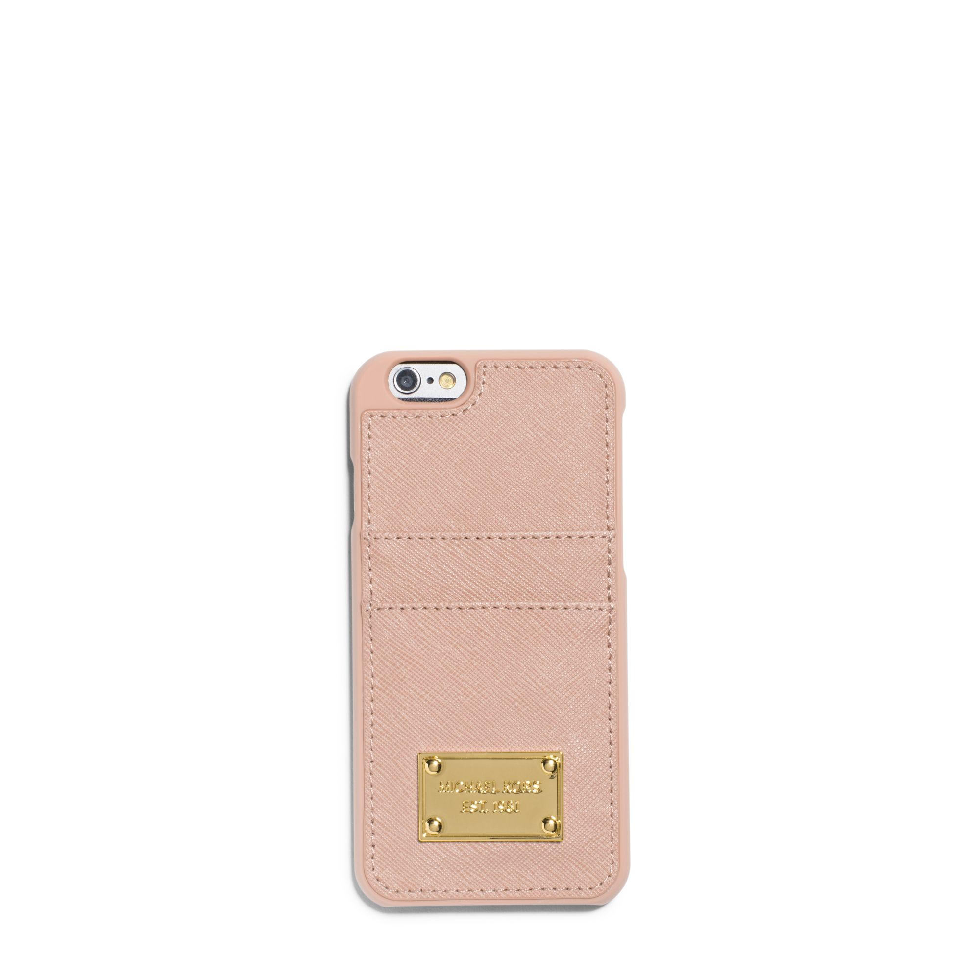 Michael Kors Saffiano Leather Pocket Smartphone Case in