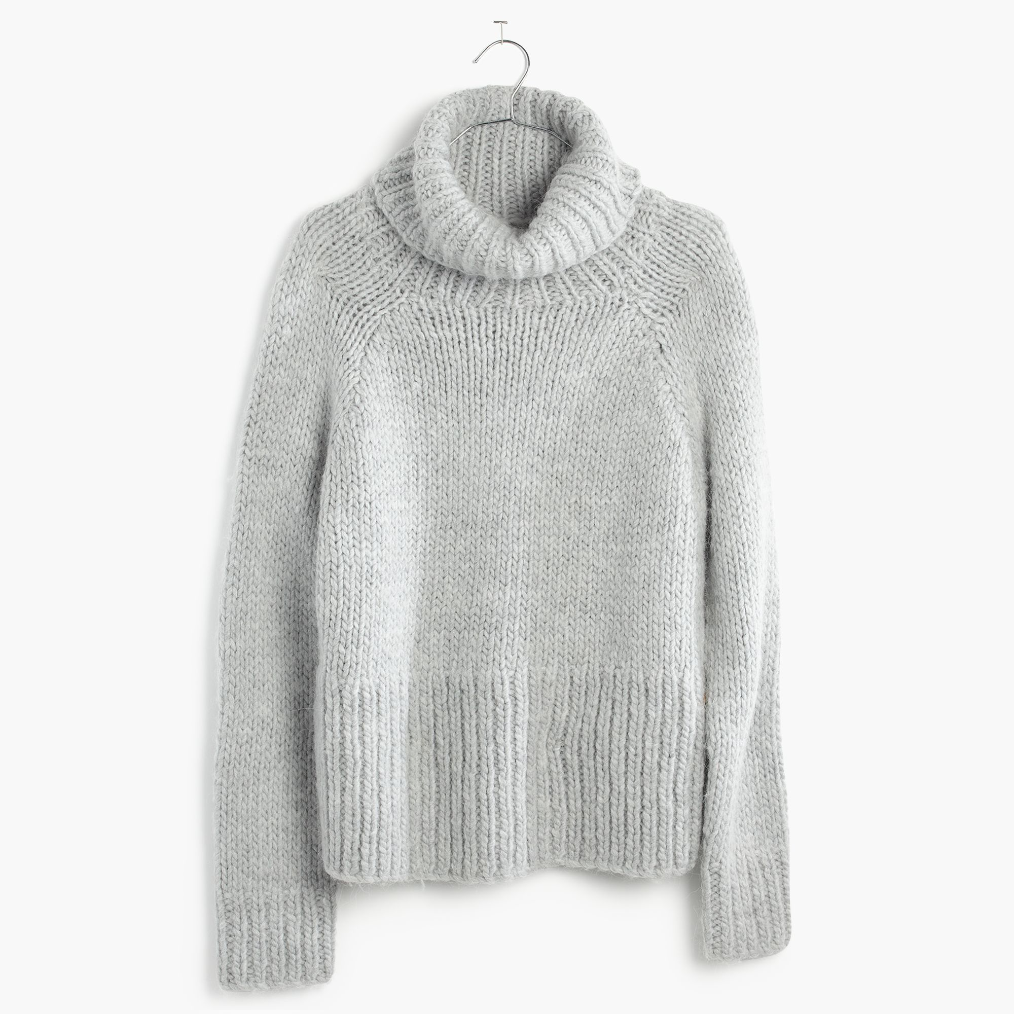 Madewell Handknit Cozy Turtleneck Sweater in Gray | Lyst