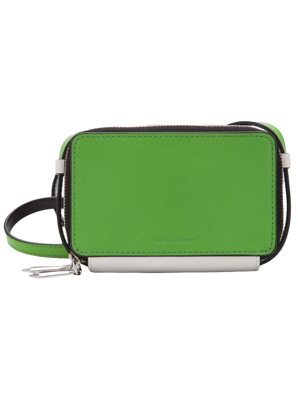 8007bdd809 Lyst - Reed Krakoff Double Zip Crossbody Bag in Green