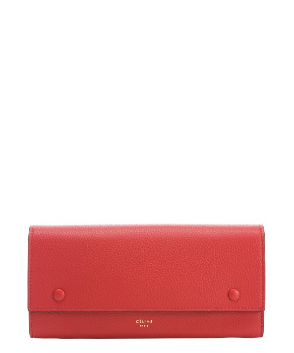 celine patent red wallet